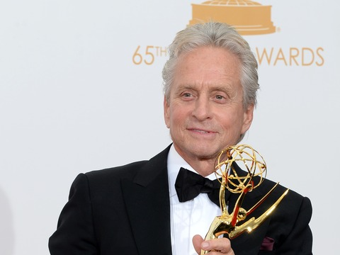 Emmys 2013: Michael Douglas on Mentioning Son Cameron in Acceptance Speech