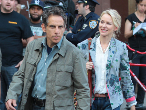 "Ben Stiller and Naomi Watts were snapped on the NYC set of ""While We're Young."""