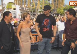 Robert Rodriguez and Danny Trejo Talk 'Machete Kills' at Universal Studios…