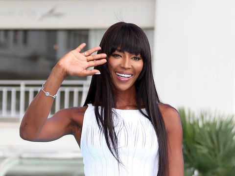 "Naomi Campbell promoted ""The Face"" at MIPCOM in Cannes."