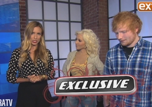 On 'The Voice' Set with Christina Aguilera and Ed Sheeran