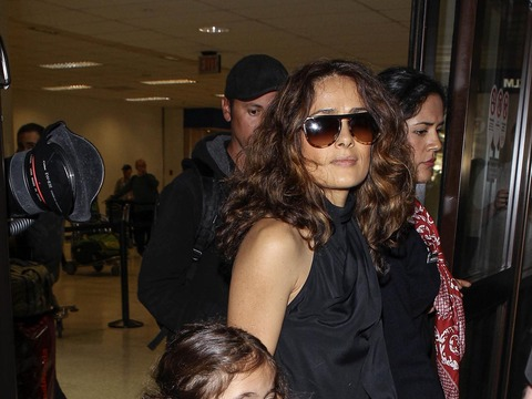 Salma Hayek and daughter Valentina arrived to LAX Airport after flying in from…