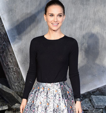"Natalie Portman attended the world premiere of ""Thor: The Dark World"" in London…"