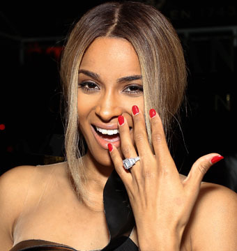 Look! Ciara Rivals Kim K with 15-Carat Engagement Ring of Her Own