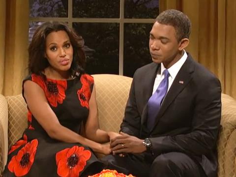 See Kerry Washington as Michelle Obama and Eminem Go 'Berzerk' on 'Saturday…