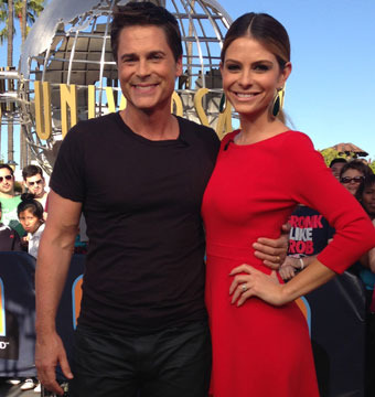 """Killing Kennedy"" star Rob Lowe stopped by Universal Studios Hollywood for a…"
