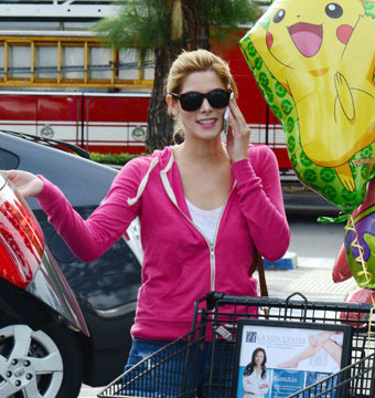 Ashley Greene looked adorable as she left a grocery store with a Pikachu…