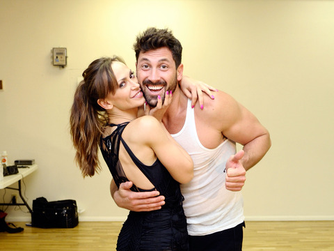 'DWTS' Semi-Finals: Maks Chmerkovskiy Judges, Gets a Kiss from Ex Karina…