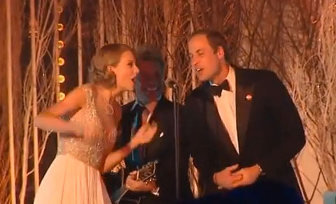 Video! Taylor Swift Sings Karaoke with Prince William and Jon Bon…