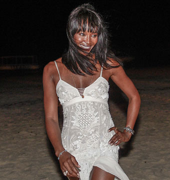 Naomi Campbell celebrated New Year's Eve with ex-partner Flavio Briatore in…