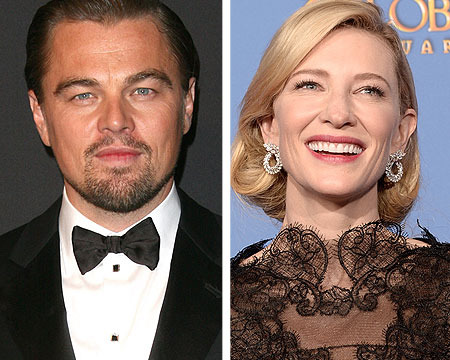 Backstage at Golden Globes: Leo DiCapiro with His Mom, Cate Blanchett…
