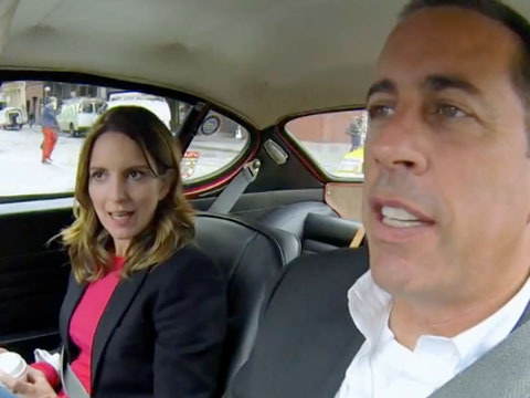 When '30 Rock' Meets 'Seinfeld': Tina Fey Hangs with Jerry Seinfeld