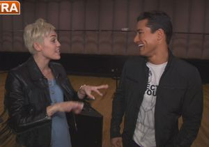 Miley Cyrus Laughs Off Dating Rumors, Lets Mario Lopez Play Cupid