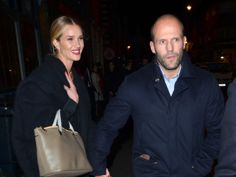 Jason Statham and fiancée Rosie Huntington-Whiteley enjoyed a night out in…