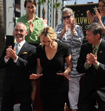 Oscar winner Kate Winslet was honored with a star on the Hollywood Walk of Fame…
