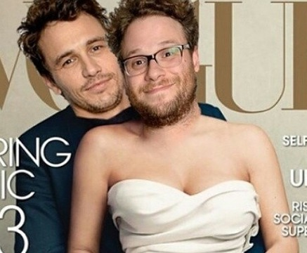 Awesome Pic! Seth Rogen and James Franco Recreate Kimye Vogue Cover