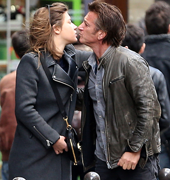 Sean Penn and French actress Adele Exarchopoulos shared a smooch after having…