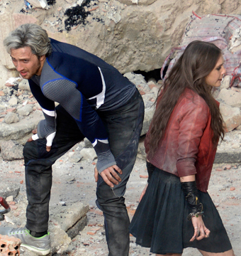 Aaron Taylor-Johnson and Elizabeth Olsen play twins Quicksilver and Scarlet…
