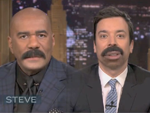 When Talk Show Hosts Steve Harvey and Jimmy Fallon Flipped Lips