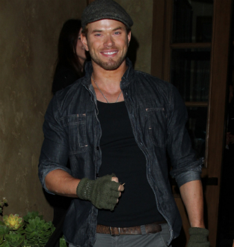 Kellan Lutz celebrated his birthday with friends at RivaBella in West Hollywood.