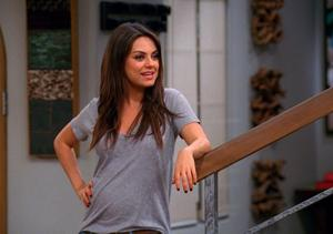 Clip! Mila Kunis and Bumper Stickers in 'Two and a Half Men'