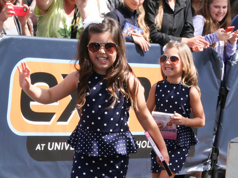 Sophia Grace and Rosie joined Mario Lopez at Universal Studios Hollywood.