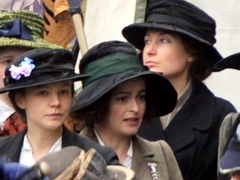 Carey Mulligan and Helena Bonham Carter were spotted on the London set of the…