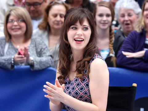 """The New Girl"" star Zooey Deschanel visited ""Good Morning America."""