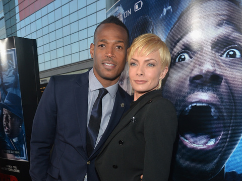 "Marlon Wayans and Jaime Pressley hit the red carpet at the ""Haunted House 2""…"