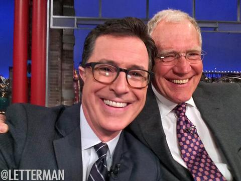 Video! Stephen Colbert Tells Letterman, 'I'm Going to Do Whatever You Have…