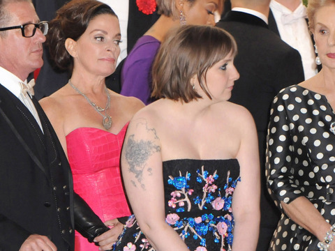 Met Gala 2014: Lena Dunham Decided the Shoes Had to Come Off!