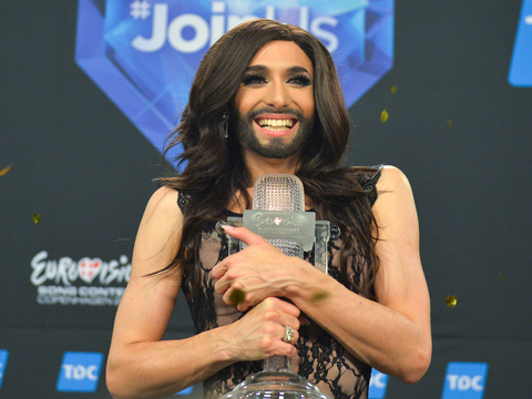 Bearded Drag Queen and Kim K Lookalike Wins Eurovision Song Contest!