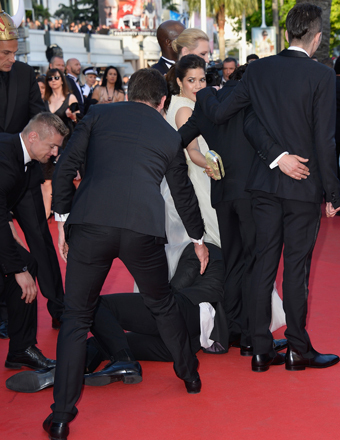 America Ferrera Attacked On Cannes Red Carpet Hides Under