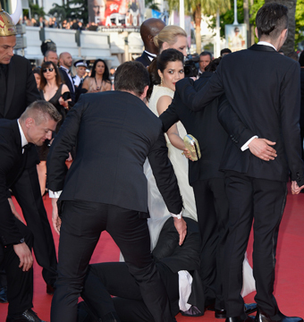 Man Attacks America Ferrera on Cannes Red Carpet, Hides Under Her Dress