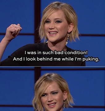 Video! Jennifer Lawrence Tells Her Hilarious and Star-Studded Puking Story