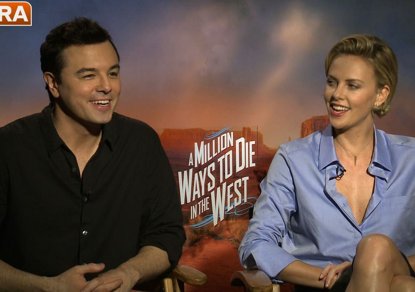 Seth MacFarlane and Charlize Theron on 'A Million Ways to Die in the West'