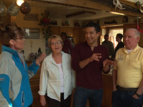 Watch! Mario Lopez Hangs with Sarah Palin at Her Alaska Home