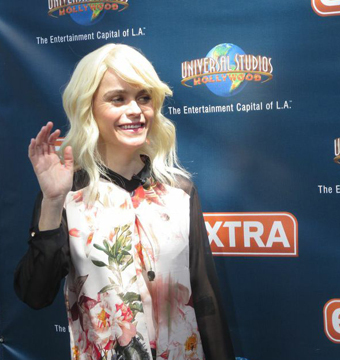 """""""Orange Is the New Black"""" star Taryn Manning paid a visit to """"Extra"""" at…"""