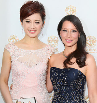 Olivia Xu and Lucy Liu attended the Huading Film Awards in L.A. on Sunday.