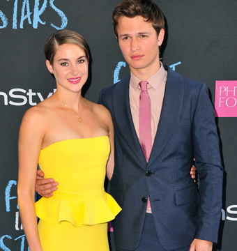 "Shailene Woodley and Ansel Elgort attended ""The Fault in Our Stars"" premiere in…"
