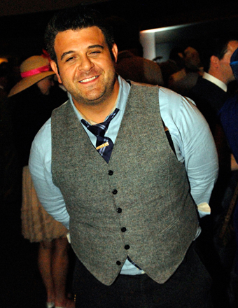 Man v. Foods Adam Richman Poses Naked After 70-Pound