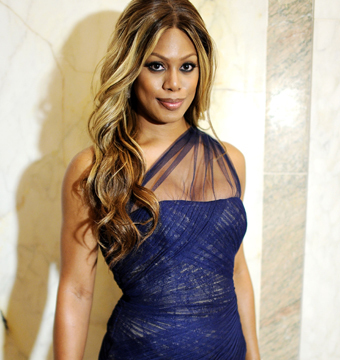 """Orange Is the New Black"" actress Laverne Cox attended the amfAR Inspiration…"