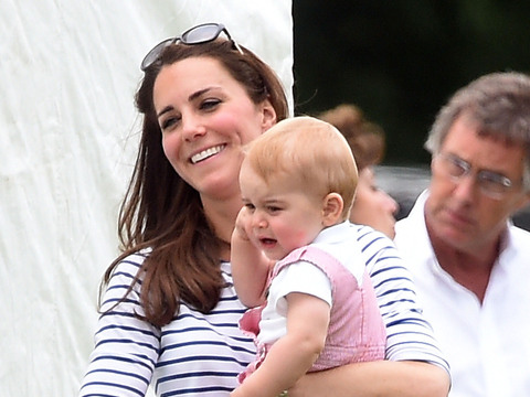 Kate Middleton and Prince George cheered on William and Harry at a polo match…