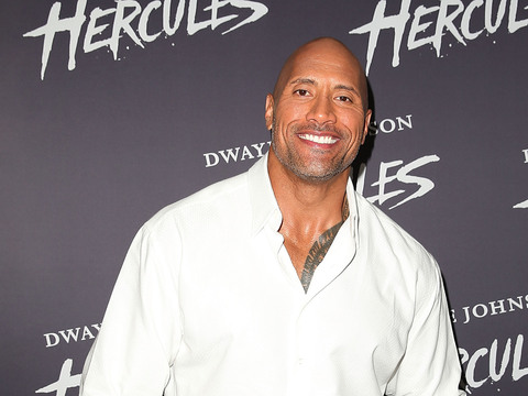 "Dwayne Johnson arrived to the screening of ""Hercules"" in Sydney."