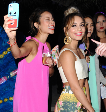 Jamie Chung and Vanessa Hudgens snapped a selfie at SVEDKA's Summer Samba in…