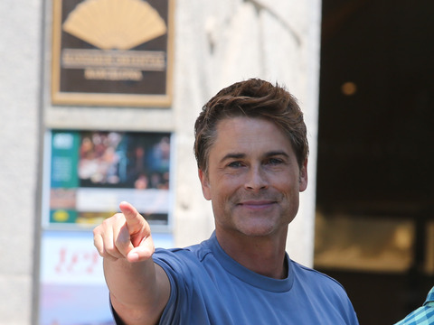 Rob Lowe took some time out to see the sights in Barcelona.