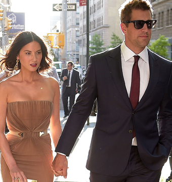 Olivia Munn and NFL star Aaron Rodgers held hands while walking in NYC.