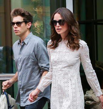 Keira Knightley and husband James Righton held hands as they stepped out of…