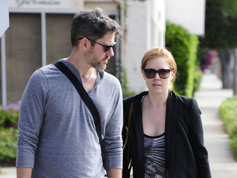 Amy Adams and Darren Le Gallo were spotted on a walk in Beverly Hills.