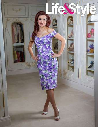 Holly purple flower dress